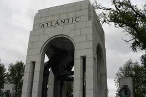 Arch commemorating the Atlantic theater on the North end of the memorial.
