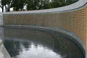 Each star represents 100 American service personnel who died or remain missing from the war.