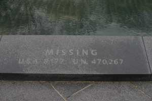 "Korean War Veterans Memorial- ""Missing""U.S.A. 8,177U.N. 470,267"