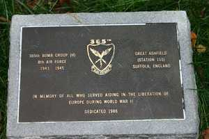 Memorial to :all who served aiding in the liberation of Europe during World War II.""