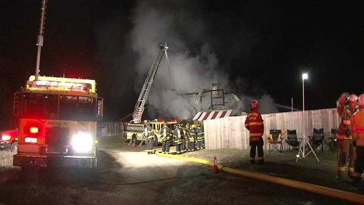 Barn fire in Fredonia