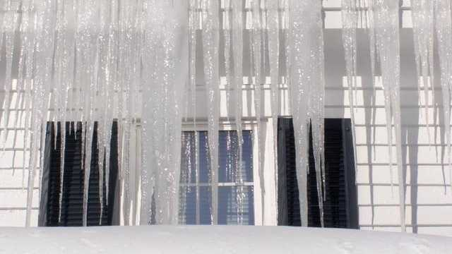 Winter, cold, snow, icicles