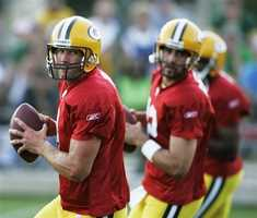 Rodgers spent his first several seasons on the bench, watching Packers quarterback Brett Favre.