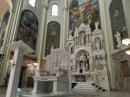 The chapel was dedicated and consecrated as a sacred space in 1917, with its primary focus being prayer and worship.