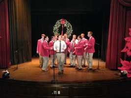 The UW MadHatters, an a cappella group, preformed here.