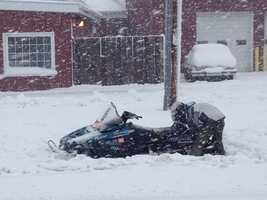Even a snowmobiler got stuck in Ixonia.