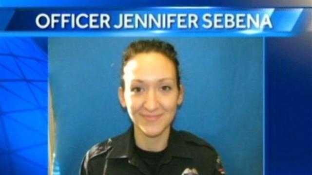 Jennifer Sebena with graphic