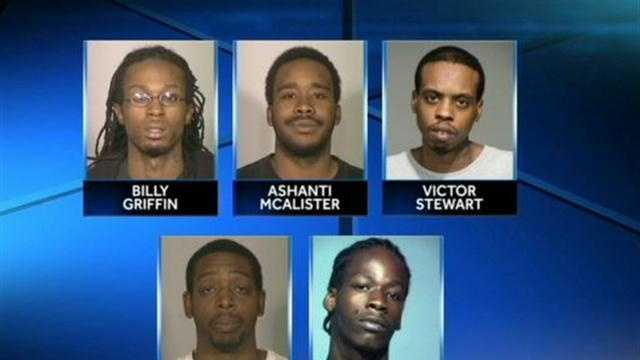 5 men charged in Young death