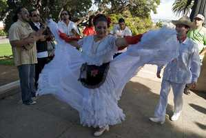 The Fandango is a Spanish couples dance that is accompanied by guitars, hand claps and castanets.