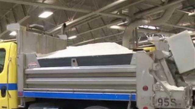 Waukesha Co.  salt truck