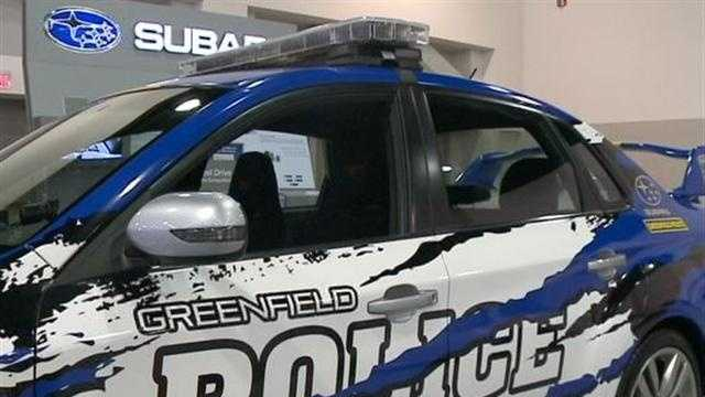 2012 Subaru STI was donated by Schlossmann Subaru for the Greenfield police department to use for 3 years.