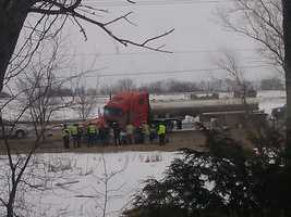Highway 26 between County Roads J and Q is closed while authorities investigate the crash.