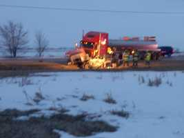 The Dodge County Sheriff's Department said the driver of the car did not survive.