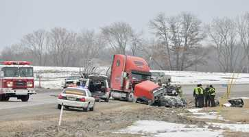 One person is dead after a head-on collision on Highway 26 north of Watertown.