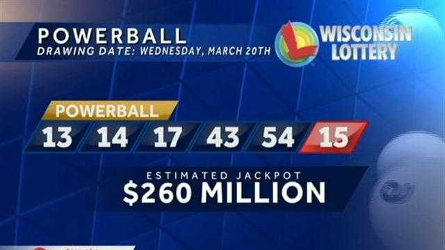 Powerball numbers for March 20, 2013