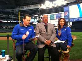 WISN 12 News' Craig McKee and Marianne Lyles with Davey Nelson