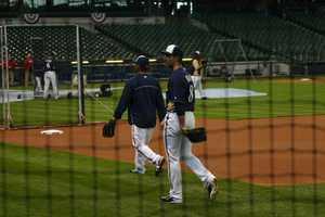 Left fielder Ryan Braun