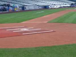 Home plate is almost ready