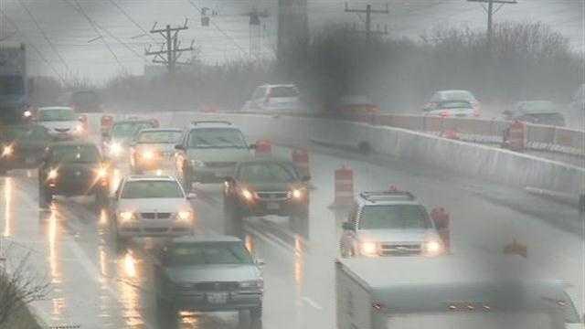 drivers in rain on I-94