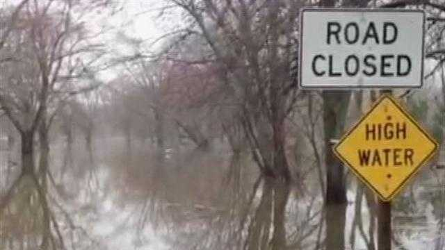 Burlington roads closed due to high water