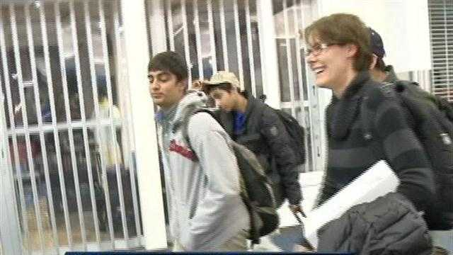 A dozen high school students from Wisconsin have returned from Boston. They went to attend an engineering conference.