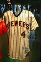 1982 Paul Molitor Milwaukee Brewers home jersey