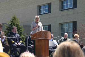 Amy Fabiano, wife of fallen Sheriff Deputy Frank Fabiano Jr, was the guest speaker.