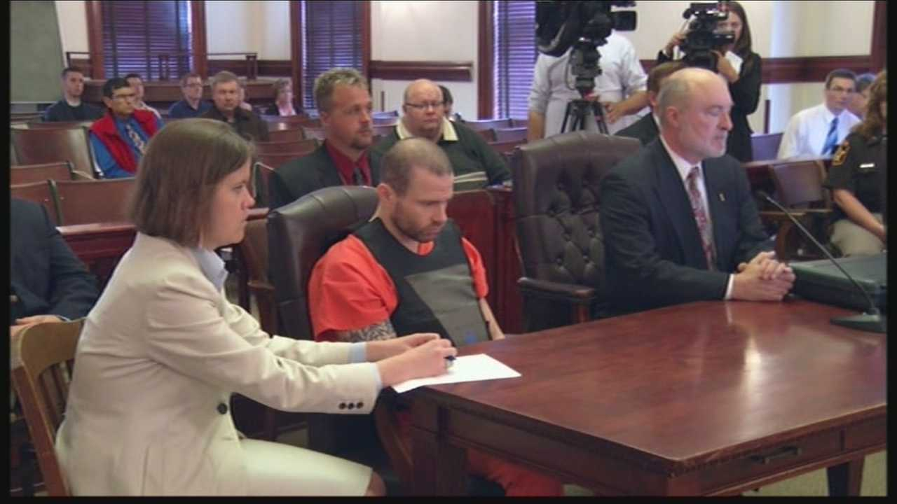 The man accused of a triple homicide in Lafayette County appears in court.