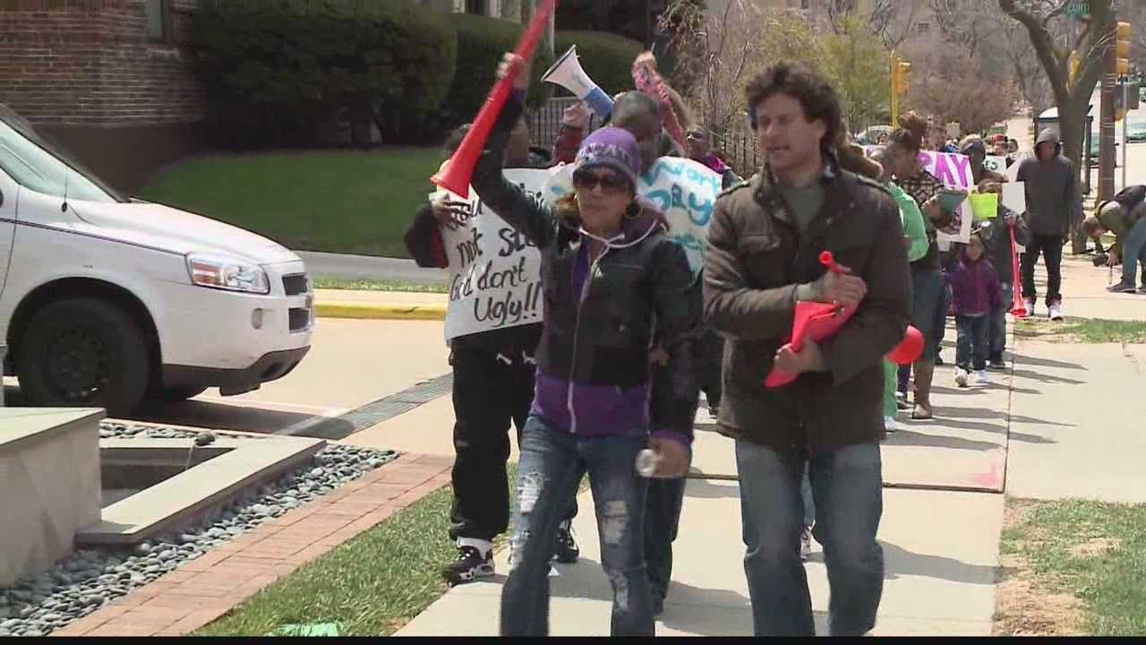 Dozens of former employees from Deaconess Home Health gathered in front of the company CEO's home Saturday demanding they receive their paychecks.
