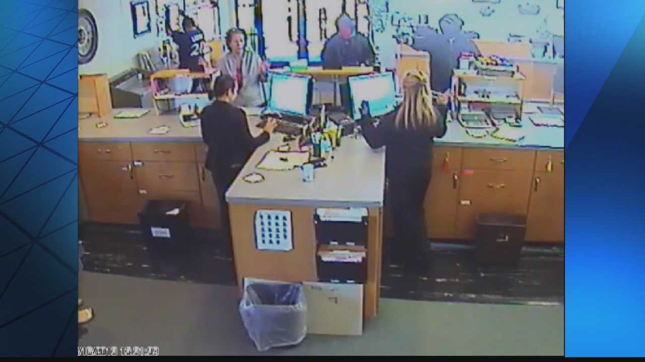 Sheboygan Police are searching for two men who robbed a credit union Tuesday afternoon.