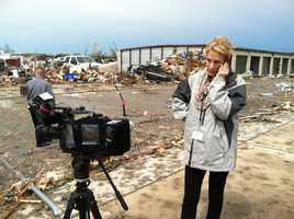 WeatherWatch 12 meteorologist Sally Severson is in Moore, Oklahoma -- the city struck by an EF-5 tornado on Monday, May 20, 2013.
