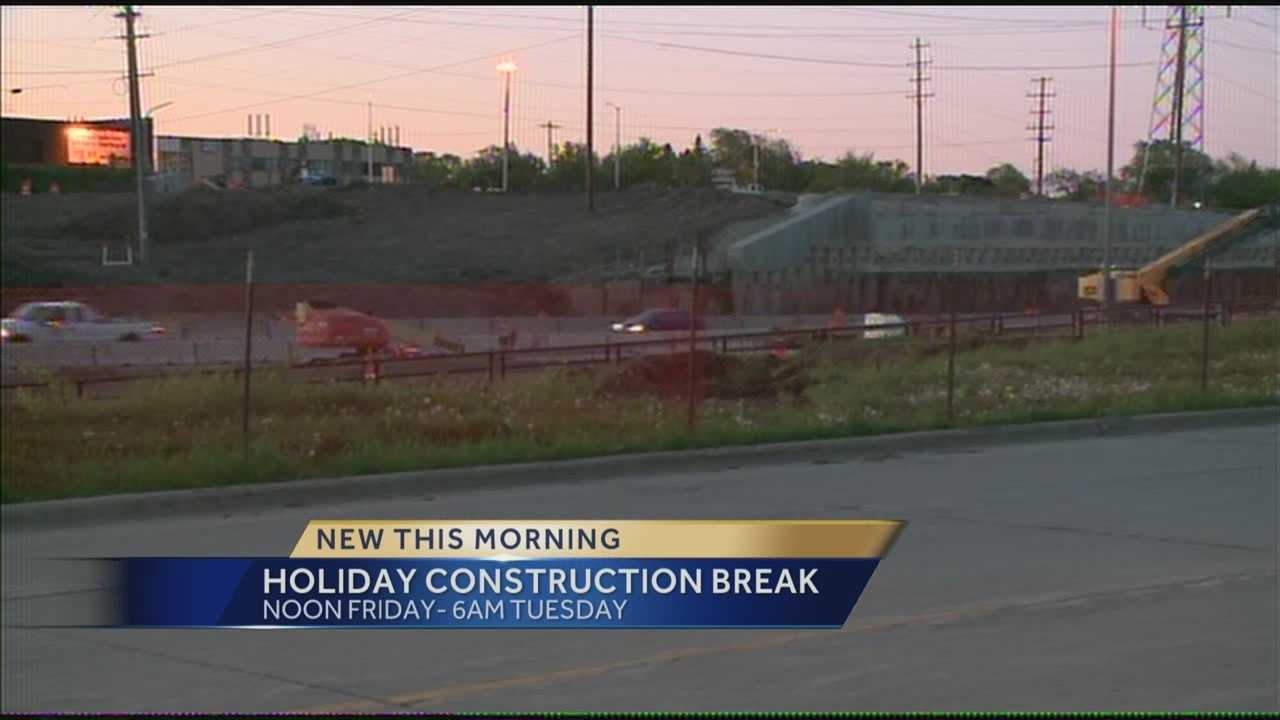 The Wisconsin Department of Transportation will suspend road construction for the Memorial Day weekend.  WISN 12 News' Hillary Mintz reports.