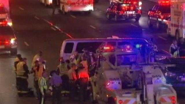 A church van from Milwaukee was involved in a crash in Chicago on Saturday night.