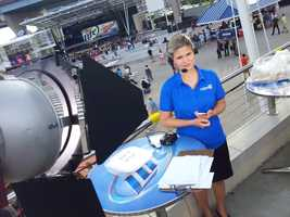 WISN 12 Sports' Stephanie Sutton ready for broadcast.