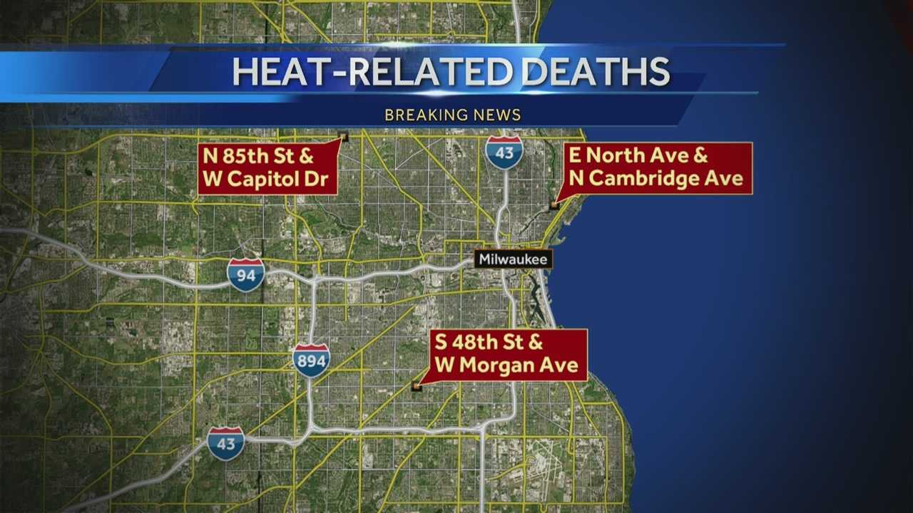 The Milwaukee County Medical Examiner's Office reported three deaths Friday, all likely caused by this week's heat wave.