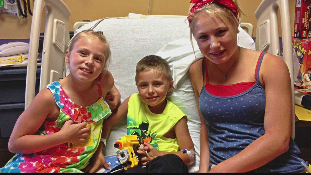 A 6-year-old Saukville boy nearly drowned in a pool but was saved by his sister and a teen cousin.