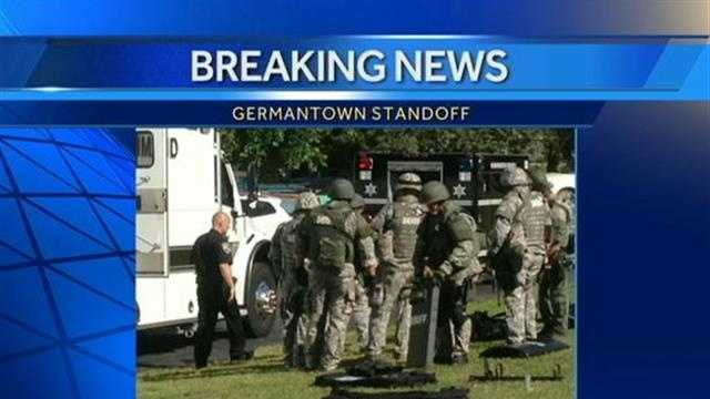 Standoff at Germantown home
