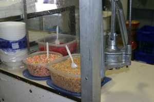 Carmel apple sundaes are a popular treat.
