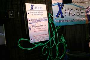 Oh no, my hose is all tangled up.
