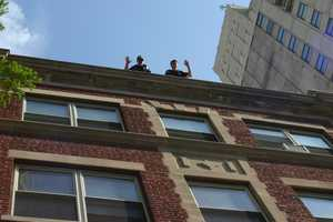 "The ""Cops on Rooftops"" as it is known fund raisers uses police officers on the roof of the business to draw attention."
