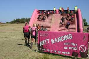 "Obstacle: ""Dirty Dancing"" climb up this side..."