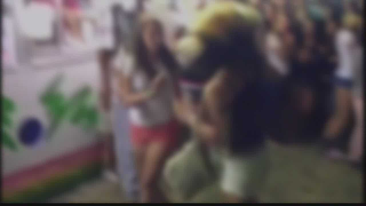 Officials at the Dodge County Fair are disappointed that adults decided to watch and record a fight between teenage girls instead of try to prevent it.