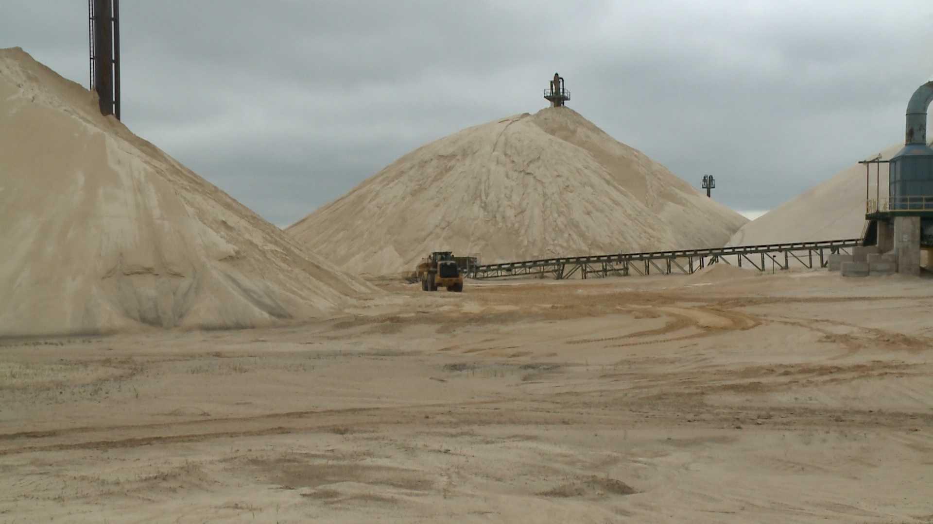 Sand mine near Fairwater, Wis.
