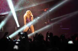 Pop singer Ke$ha performed to a sold-out crowd at The Rave on Wednesday night.