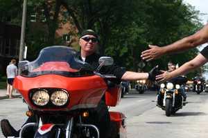 The Harley parade kicked off at Miller Park...