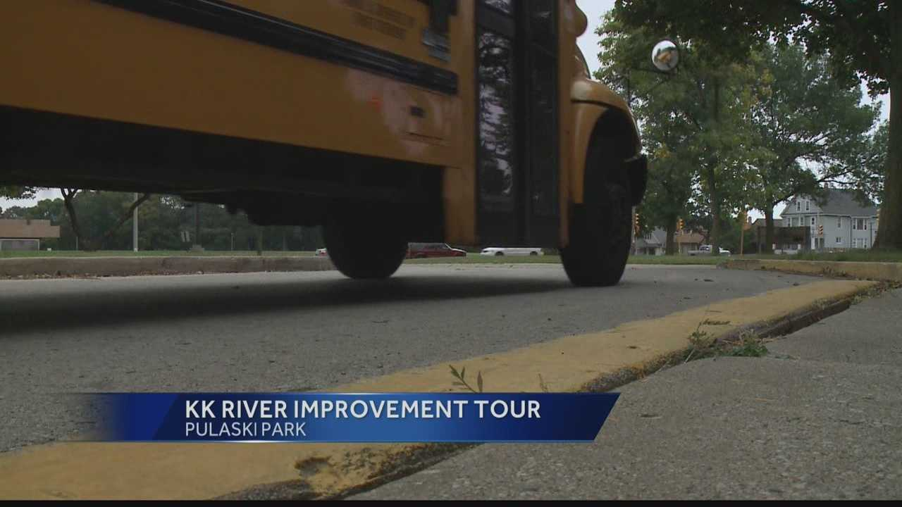 A bus tour of Milwaukee riverfront areas was organized so residents could see how other riverfront areas are enhancing and protecting their waterways.
