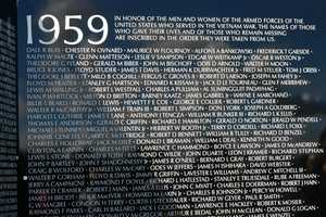 """Inscription at the top of panel 1E: """"IN HONOR OF THE MEN AND WOMEN OF THE ARMED FORCES OF THE UNITED STATES WHO SERVED IN THE VIETNAM WAR. THE NAMES OF THOSE WHO GAVE THEIR LIVES AND OF THOSE WHO REMAIN MISSING ARE INSCRIBED IN THE ORDER THEY WERE TAKEN FROM US."""""""