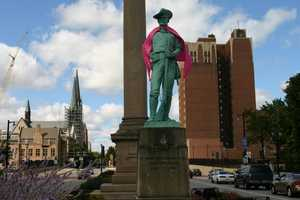 Spanish-American War Soldier on Wisconsin Ave between 9th and 10th streets.