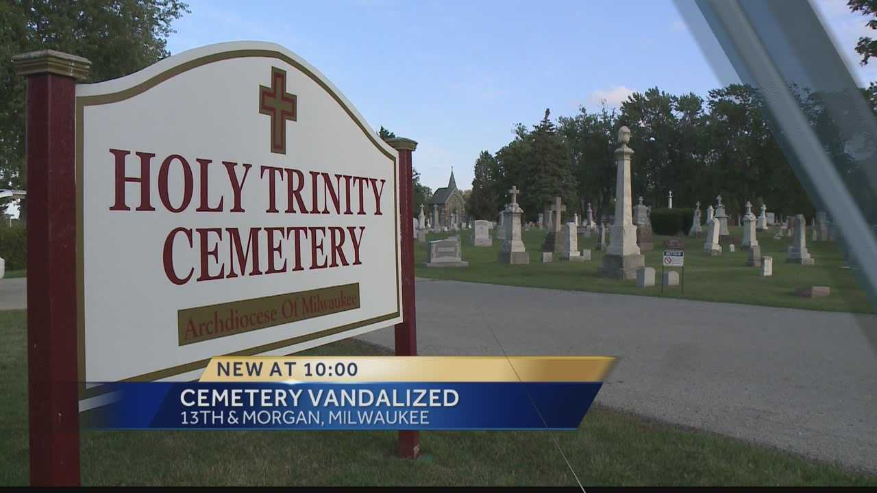 Graffiti was reported at Holy Trinity cemetery.