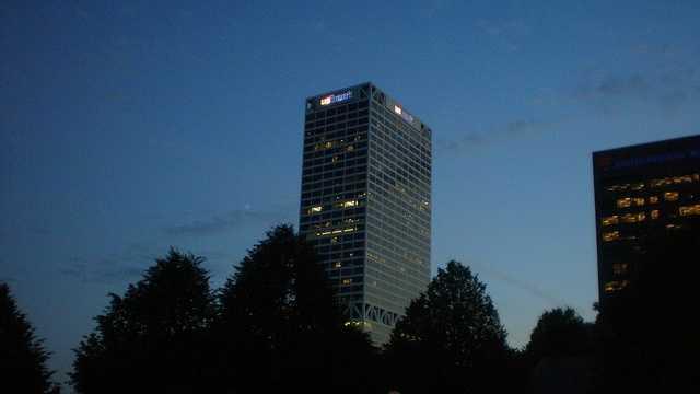 U.S. Bank building at night